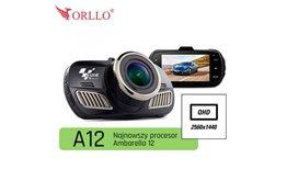 Wideorejestrator Orllo RX- RAZOR A12 z procesorem Ambrella A12A55, rozdzielczość 2560x1440 QHD lub FULL HD 60fps GPS