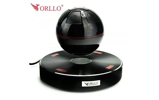Unoszący się w powietrzu głośnik Orllo Death Star Bluetooth, podświetlany w ciemności