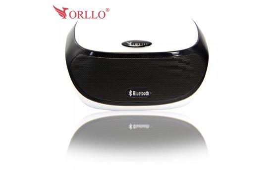 Mobilny Głośnik stereo Bluetooth Orllo AJ-81 z Radiem FM obsługą rozmów tel. czytnikiem kart microSD oraz wejściem AUX. Moc 3W