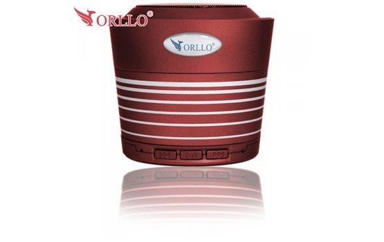 Czerwony Głośnik stereo Bluetooth Orllo UI-B10 z Radiem FM, czytnikiem kart microSD oraz wejściem mini jack o mocy 5W SUPER BASS