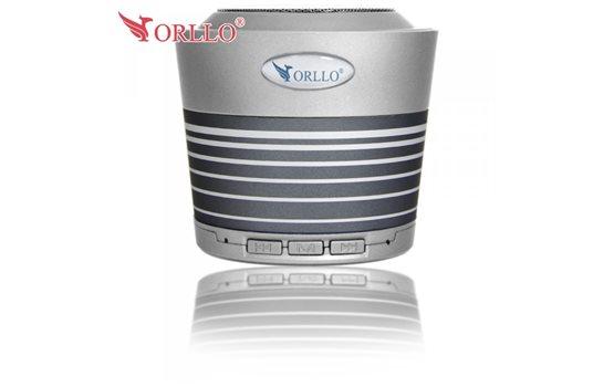 Szary Głośnik stereo Bluetooth Orllo UI-B10 z Radiem FM, czytnikiem kart microSD oraz wejściem mini jack o mocy 5W SUPER BASS