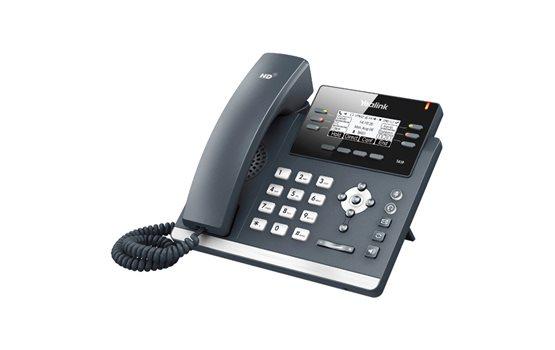 Telefon VoIP Yealink T41P z obsługą technologii PoE 6 kont SIP obsługa zestawu słuchawkowego kancelacja echa, dupleks