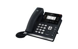 Telefon VoIP Yealink T42G podwójny port Gigabit PoE 12 kont SIP obsługa zestawu słuchawkowego, EHS, kancelacja echa, dupleks