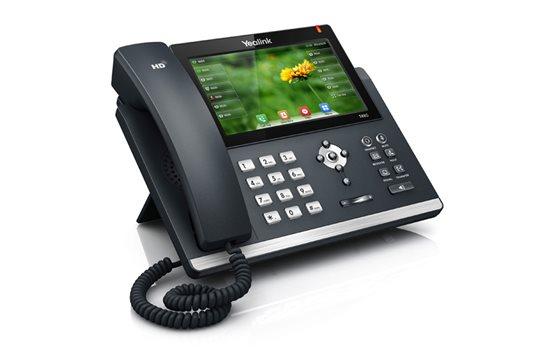 Telefon VoIP Yealink T48G dwa porty Gigabit PoE 16 kont SIP obsługa adapterów, port USB, nagrywanie połączeń, Dotykowy ekran LCD