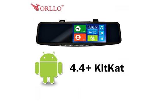 Wideorejestrator z nawigacją w lusterku cofania Orllo LX-400GT BASIC z Androidem