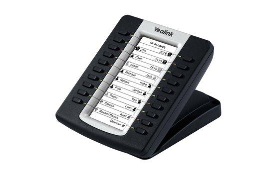 Moduł sekretarski Yealink EXP39 z 20 przyciskami + funkcja zmiany strony, obsługa do 6 modułów jednocześnie, 2 porty RJ12 LCD