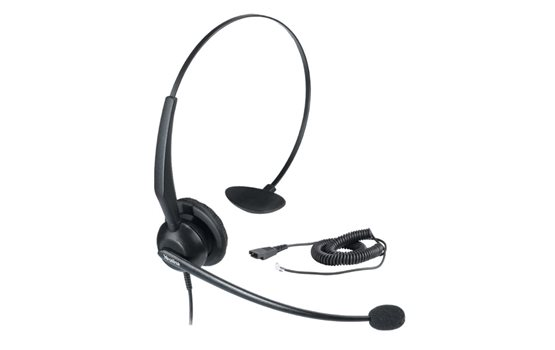 Nagłowny zestaw słuchawkowy Yealink YHS32 z redukcją szumów na wejściu oraz funckją ochrony przed nagłą zmianą głośności