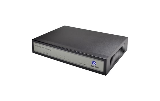 Bramka VoIP Dinstar DAG1000 4FXS do łatwego podłączenia 4 telefonów analogowych. Bramka z funkcją switcha.