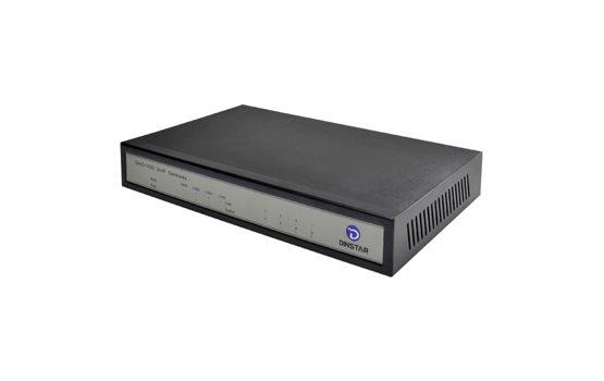 Bramka VoIP Dinstar DAG1000 8FXS do łatwego podłączenia 8 telefonów analogowych. Bramka z funkcją switcha.