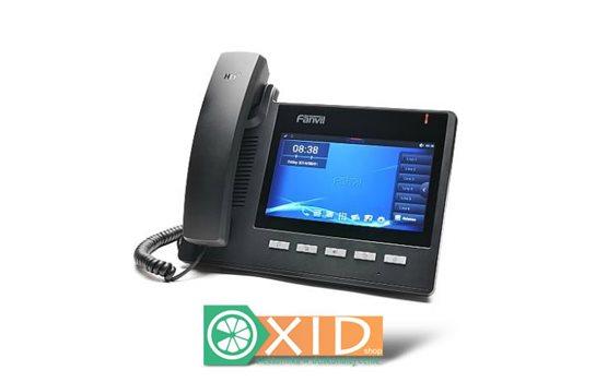 Fanvil C600 to sześcioliniowy wideotelefon VoIP z wbudowanym POE, 7 calowym dotykowym ekranem LCD z Adroidem 4.2