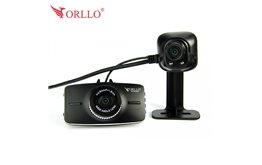 Kamera samochodowa Full HD GPS Orllo RX-630GA Dual z kamerą cofania oraz systemami ostrzegającymi przed kolizją